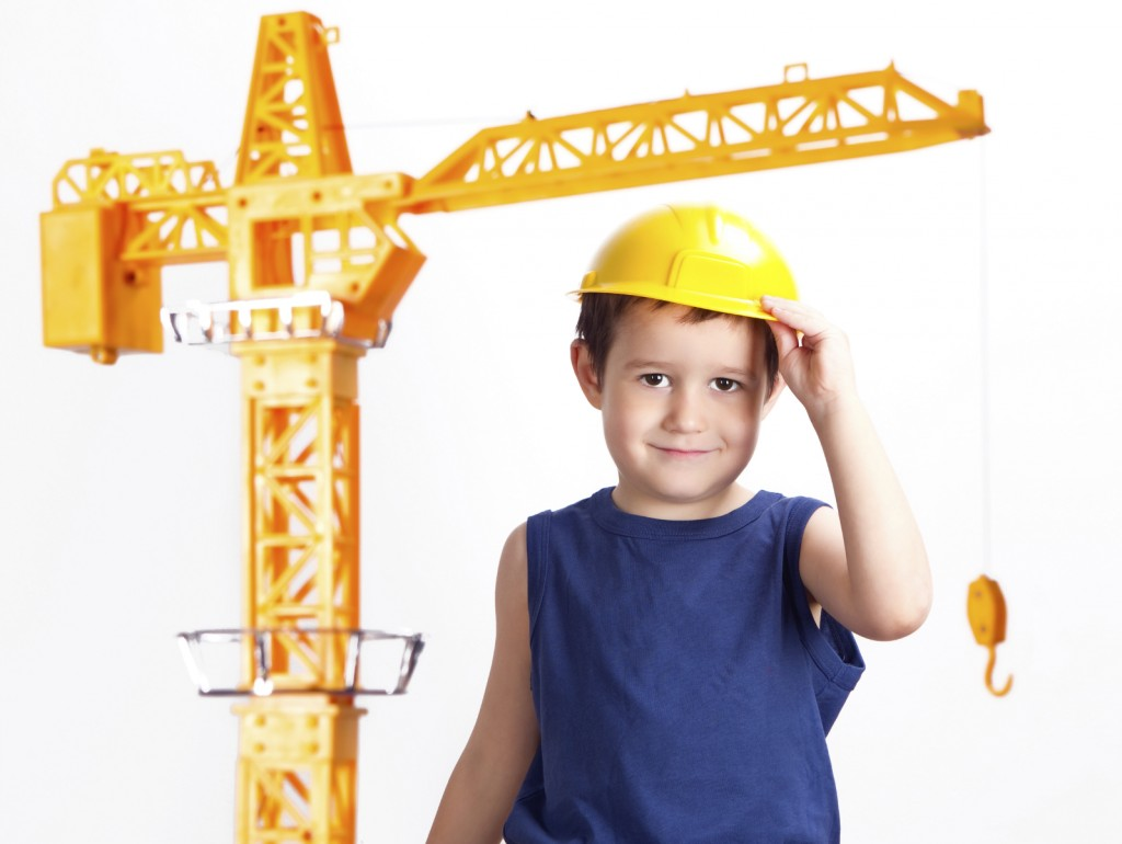 kid and tower crane