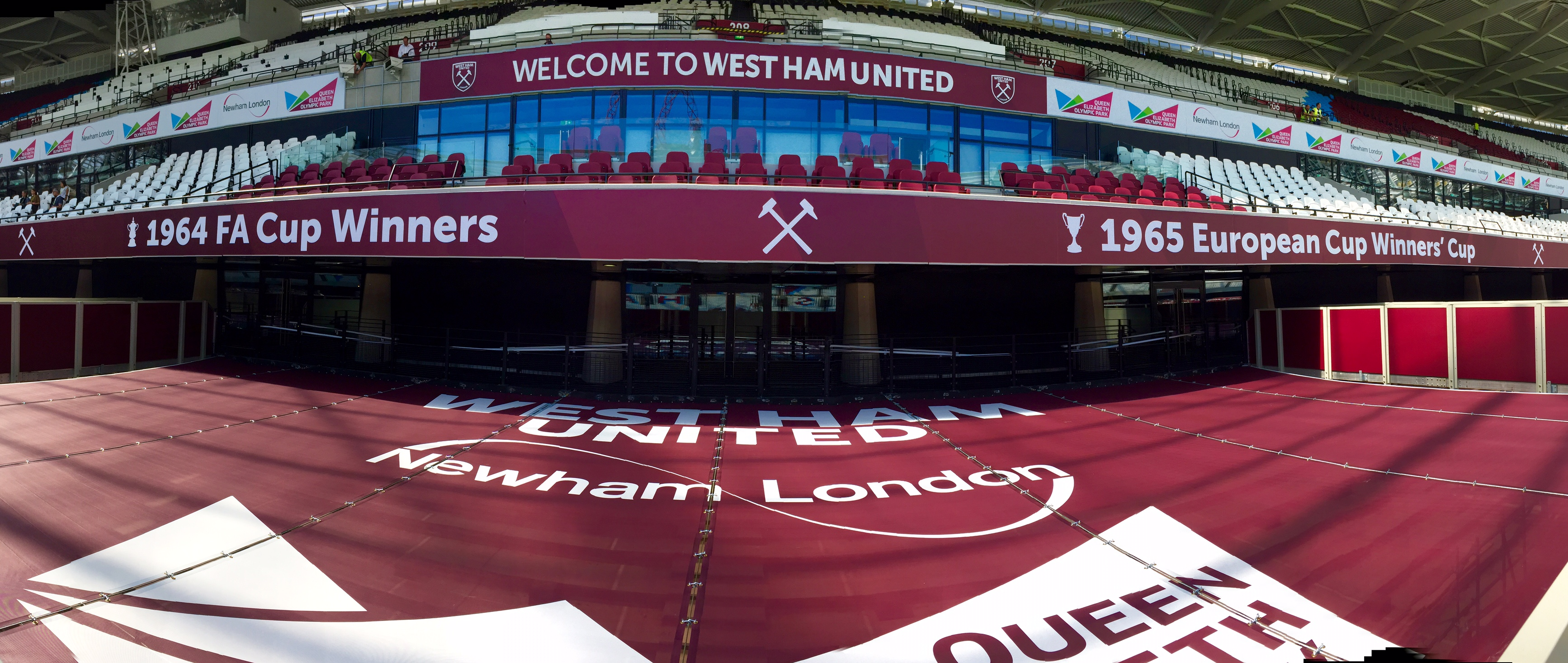 Retractable Canopy at West Ham Stadium