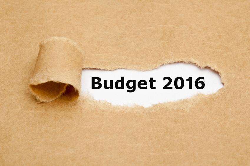 Budget 2016 Torn Paper Concept